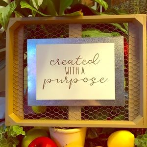 """Farmhouse style wall art """"Created With A Purpose"""""""